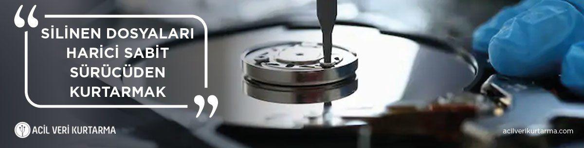 silinen dosyaları harici sabit sürücüden kurtarma